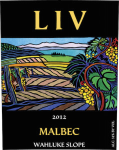 Lopez Island Vineeyards and Winery 2012 Malbec label