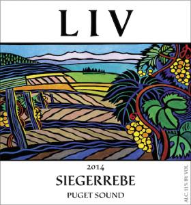 Lopez Island Vineyards 2014 Siegerrebe label