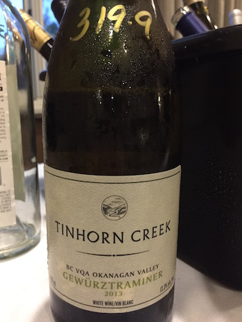 The Tinhorn Creek Vineyards 2013 Gewurztraminer ($15), a dry example of the Alsatian variety from British Columbia's Okanagan Valley, earned a silver medal at the 2014 Pacific Rim International Wine Competition in San Bernardino, Calif.