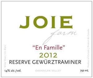 JoieFarm-2012-En Famille Reserve Gewürztraminer