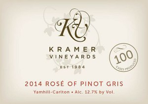 Kramer Vineyards-2014-Rosé of Pinot Gris