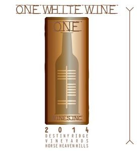 One Wines-Destiny Ridge Vineyard One White Wine-Horse Heaven Hills-2014-Label
