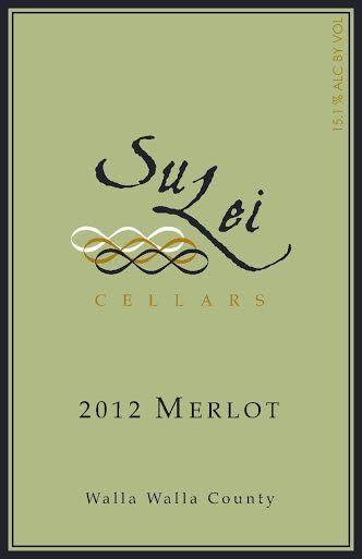 SuLei Cellars 2012 Merlot label