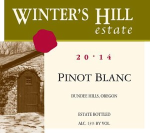 Winter's Hill Estate 2014 Pinot Blanc
