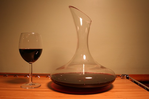Wine decanter.