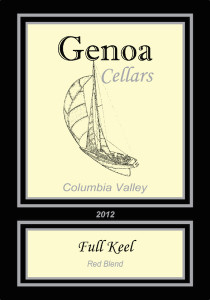 Genoa Cellars 2012 Full Keel label