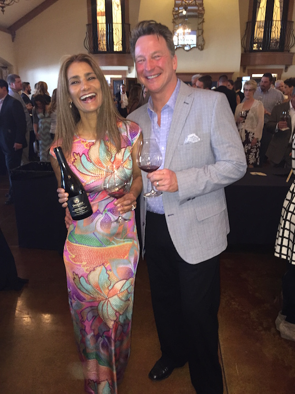 Patricia Dobbes and her winemaking husband, Joe Dobbes, participate in Uncorked! A Wine Auction on May 16, 2015 at Zenith Vineyards in Salem, Ore.