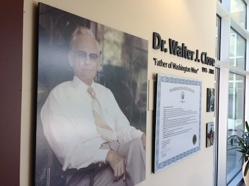 Walter Clore is the namesake of the Walter Clore Center in Prosser, Washington.