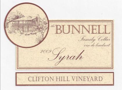 Bunnell Family Cellar-2009-Clifton Hill Vineyard Syrah