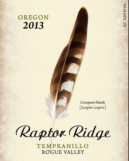 Raptor Ridge Winery-2013-Tempranillo