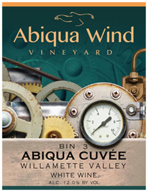 Abiqua Wind Vineyard Bin 3 Abiqua Cuvee label