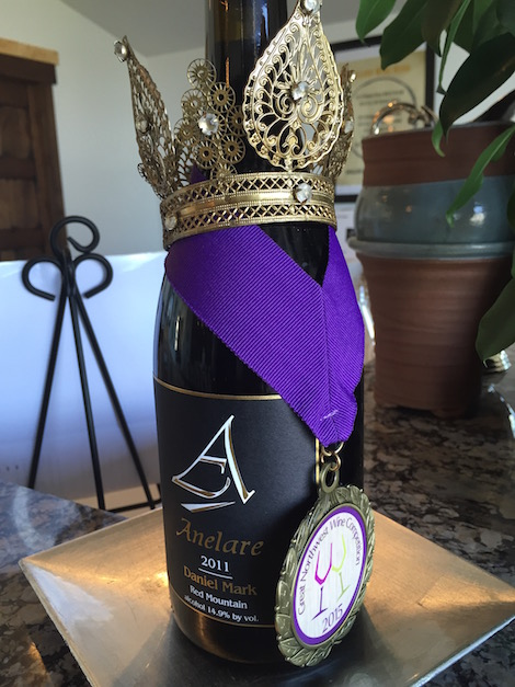 Anelare Winery earned a gold medal at the 2015 Great Northwest Wine Competition with its 2011 Daniel Mark, a red Rhône blend from Red Mountain.