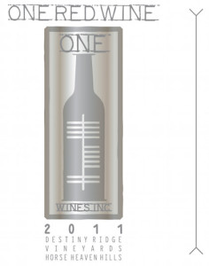 One Wines Inc 2011 One Red Wine label