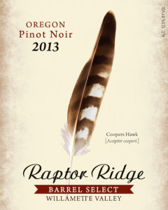 raptor-ridge-barrel-select-pinot-noir-2013-label