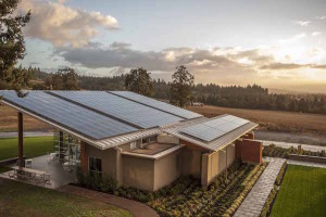 Stoller Family Estate in Dayton, Ore., generates all of the power its new tasting room requires via the solar panels on its roof.