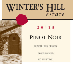 Winter's Hill Estate 2013 Pinot Noir