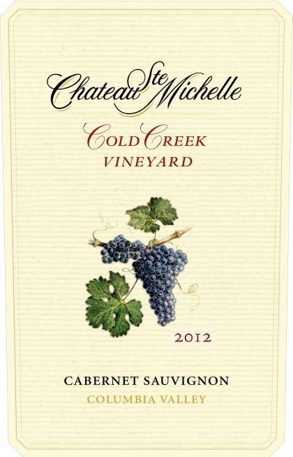 Chateau Ste. Michelle-2012-Cold Creek Vineyard Cabernet Sauvignon Label