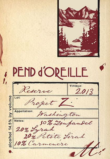 Pend d'Oreille Winery-2013-Project Z