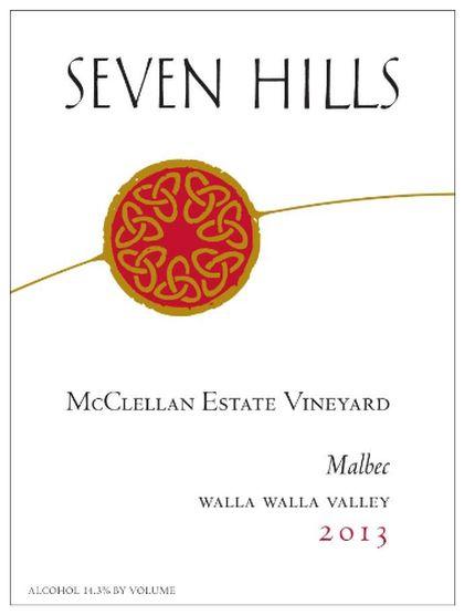 Seven Hills Winery-2013-McClellan Estate Vineyard Malbec