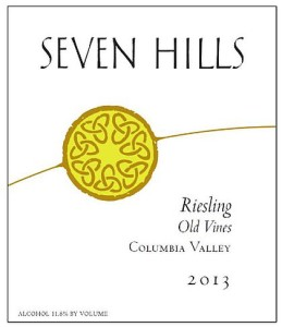 Seven Hills Winery-2013-Old Vines Riesling