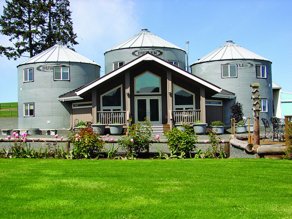 John and Judi Stuart purchased Abbey Road Farm in 2003, and their work included transforming three silos into unique B&B lodging.
