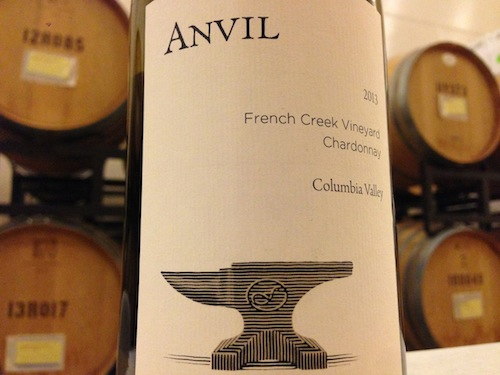 Forgeron Cellars will release the Anvil 2013 French Creek Vineyard Chardonnay.
