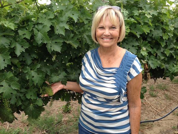 Bev Fraser owns Fraser Vineyard, which was planted in 2003.