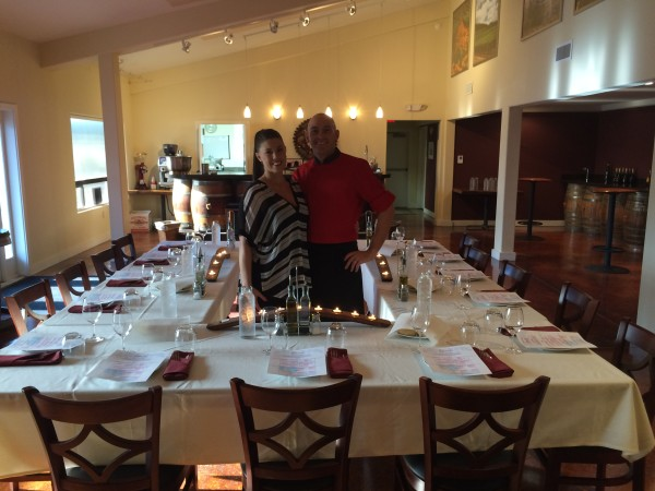 Dario Pisoni and his wife, Sheena Bell, lease AgriVino in Carlton, Ore., and operate it under their catering license, allowing them to sample wine and provide food service on the weekends.