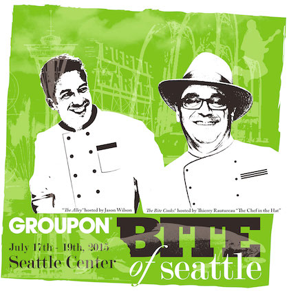 Groupon Bite of Seattle 2015 poster