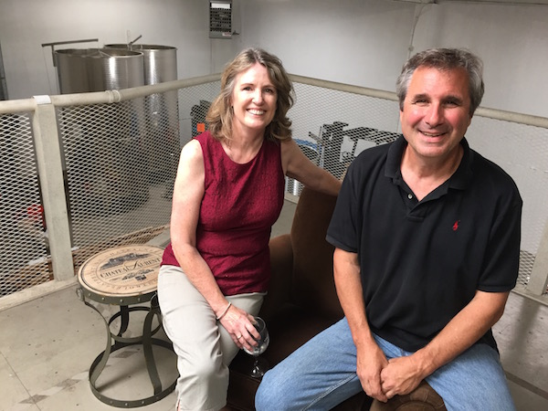 Laureen O'Brien and Ed Fus of Angel Vine Wine are the proprietors of Urban Crush Winery in Portland. O'Brien will manage the tasting room and the second-floor wine lounge, while Fus will oversee the production facility