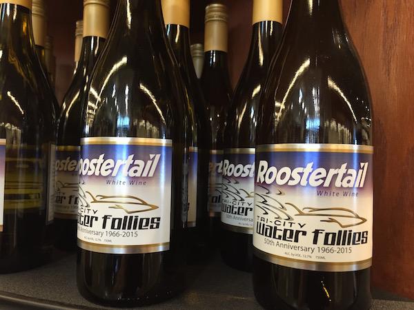 Gordon Estate Winery in Pasco, Wash., is raising funds for the Tri-City Water Follies Association via sales of its 2014 Roostertail White Wine at Yoke's Fresh Market in Richland, Wash.