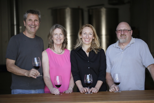 Portland's new Urban Crush Winery features Ed Fus and Laureen O'Brien of Angel Vine Wine, Pam Walden of Willful Wine Co., and Joe Williams of D'Anu Wines.