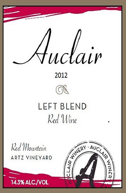 Auclair Winery-2012-Artz Vineyard Left Blend