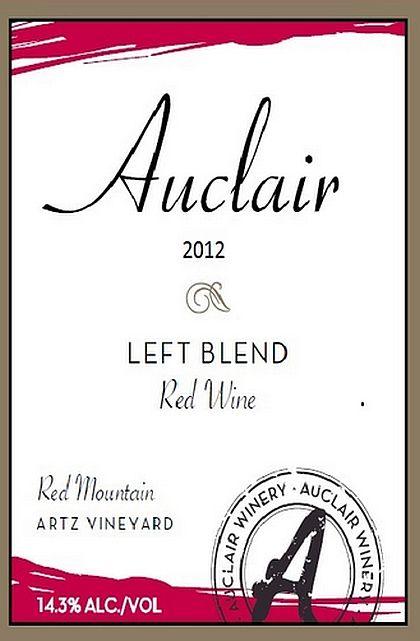 Auclair Winery-2012-Artz Vineyard Left Blend
