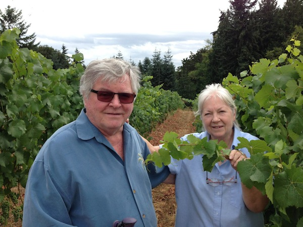 Bainbridge Vineyards founders Gerard and Jo Ann Bentryn.