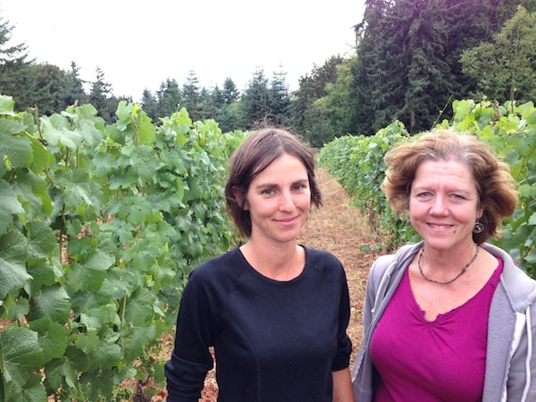 Robin Bodony and Betsey Wittick are two of the owners of Bainbridge Vineyards.