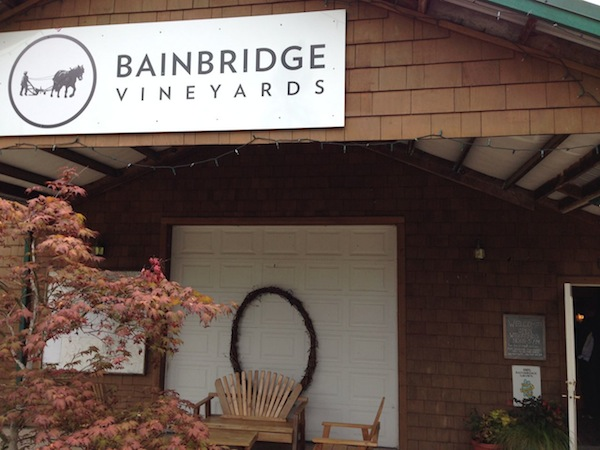 Bainbridge Vineyards is near SEattle.