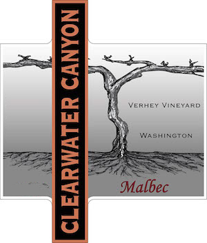 Clearwater Canyon Cellars Verhey Vineyard Malbec label
