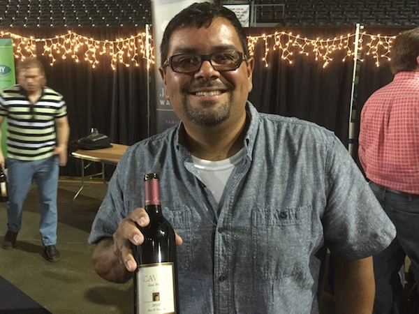 Freddy Arredondo is the head winemaker for Cave B Estate Winery.