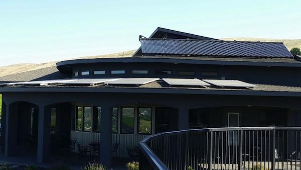 Hamilton Cellars on Washington's Red Mountain has 121 solar panels on its tasting room.