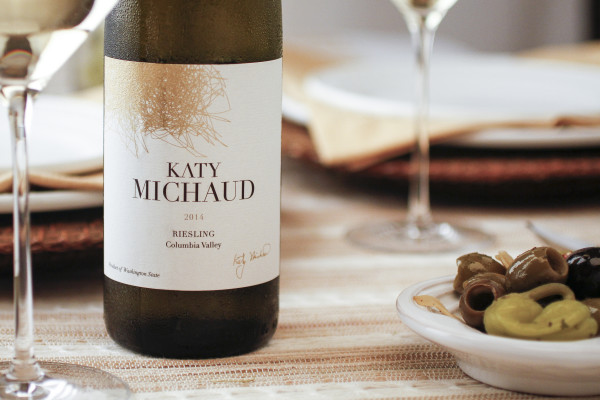 Two Yakima Valley vineyards — Hogue Ranches and Selenium — form the base for the Katy Michaud 2014 Riesling.