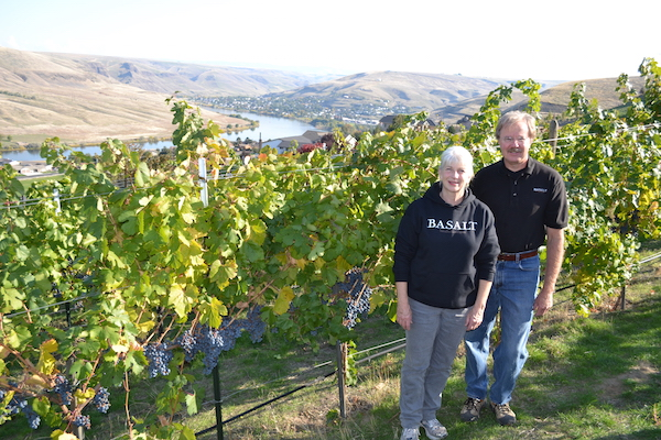 Lynn DeVleming and Rick Wasem are co-winemakers and co-owners of Basalt Cellars, which they founded in 2004 in Clarkston, Wash.