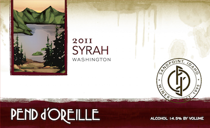 Pend d'Oreille 2011 Syrah label
