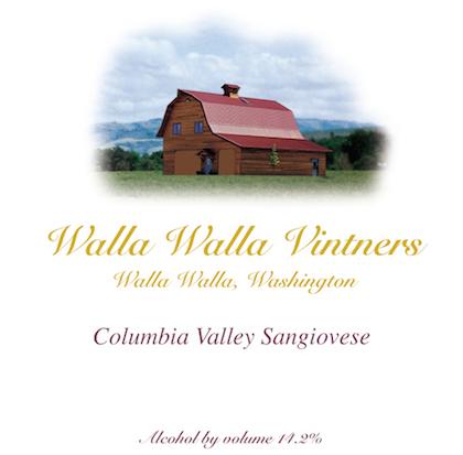 Walla Walla Vintners Sangiovese label