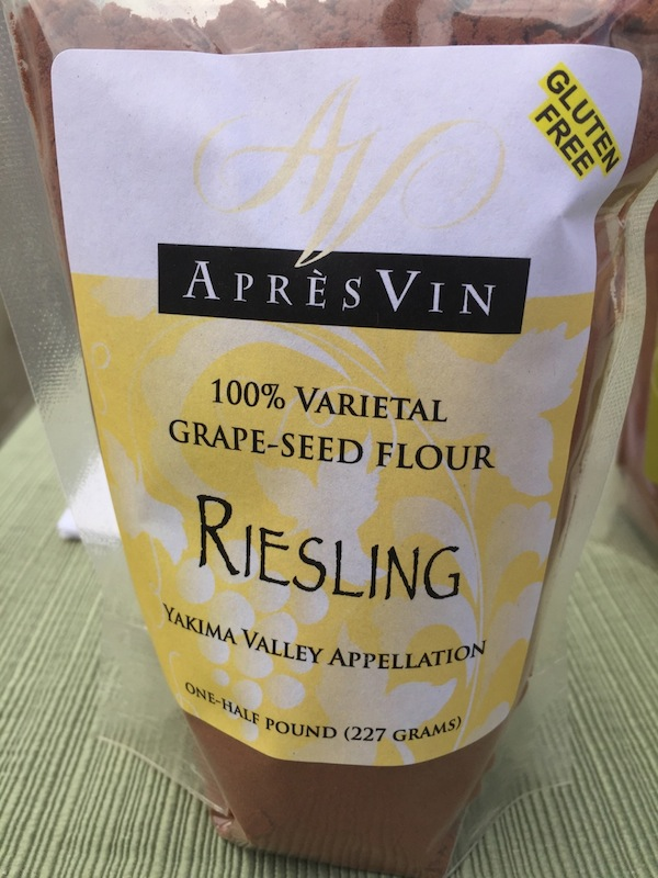 AprèsVin makes gluten-free flours from wine grape seeds.