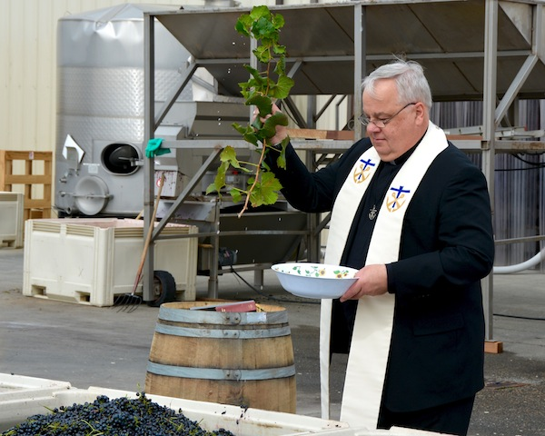 Gordon Estate conducts a harvest blessing ceremony each fall.