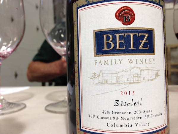 Washington Grenache makes it into Betz Family Winery's Bésoleil red blend.
