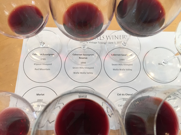 A tasting of 20-year-old wines indicates the age-worthy characteristics of Casey McClellan's work at Seven Hills Winery, which he launched in 1989. (Photo by Eric Degerman/Great Northwest Wine)