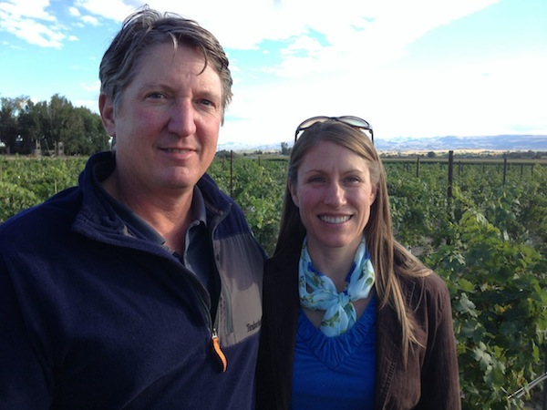 Tim and Helen Harliss won the top award in the Idaho Wine Competition for their Hat Ranch Winery Dry Moscato.
