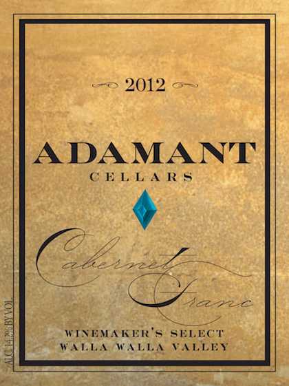 Adamant Cellars 2012 Winemaker's Select Cabernet Franc label